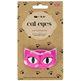 DCI Cat Eyes Contact Lens Case, Black/Pink, 1 Count