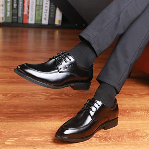 Mens Black Dress Shoes Pointed Toe Classic Formal Oxford Shoes by Phil Betty (Image #6)