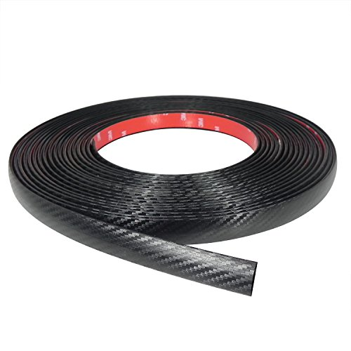 8 Feet Long Black Carbon Fiber Look Car SUV Truck Body Molding Trim. Made in USA Protector Guard ()