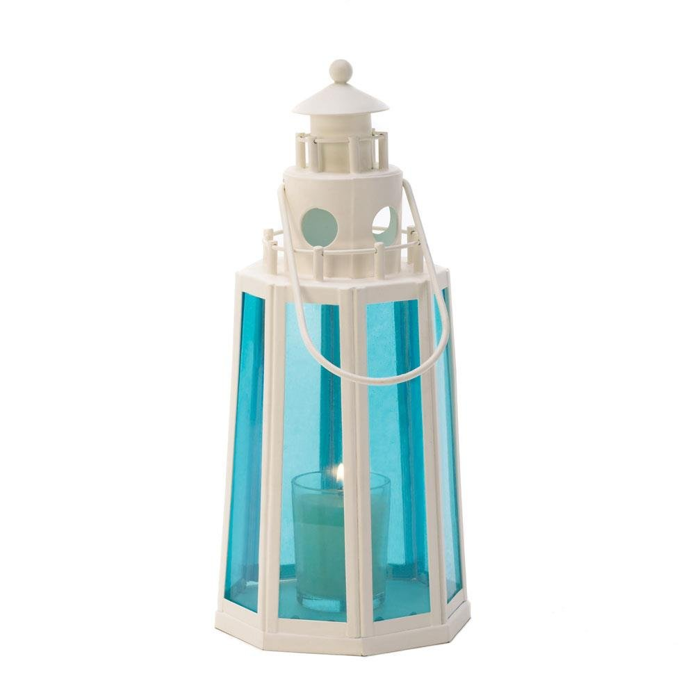 Ocean Blue Lighthouse Lamp Candle Wedding Centerpieces 15217