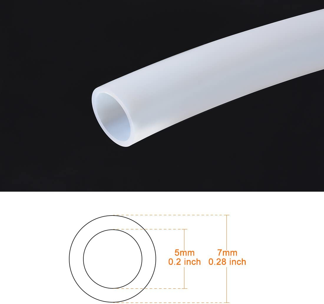 sourcing map 0.5mm ID 0.9mm OD PTFE Tubes Tube 2m Lengh Pour RepRap dimprimante 3D