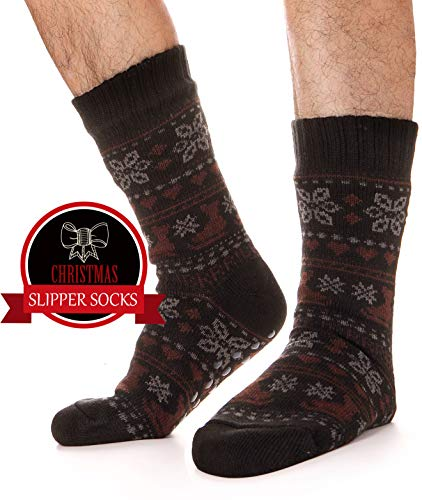 Used, EBMORE Mens Fuzzy Slipper Socks Fleece Lined Warm Christmas for sale  Delivered anywhere in USA