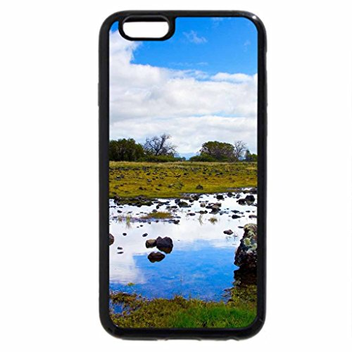 iPhone 6S Case, iPhone 6 Case (Black & White) - drying river