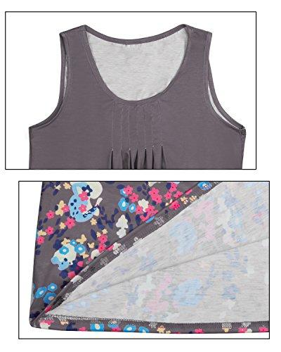 Marrón redondo line impresin vestiido cuelloo Mujeres de A Rabbit siin flloral Flying qnxPw6fHzt