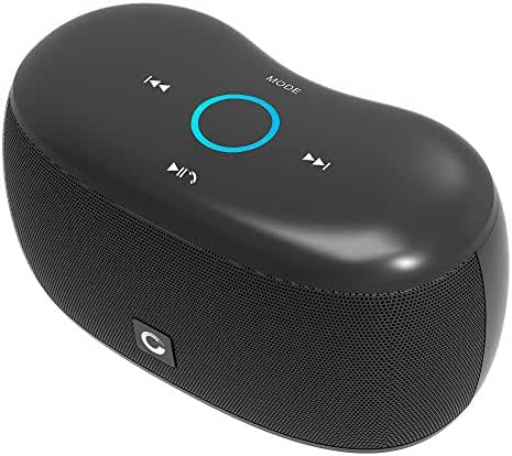 Bluetooth Speaker, DOSS SoundBox xs 10W Ultra-Small Portable Touch Wireless Bluetooth 4.0 Speaker, Support TF Card,Handsfree for iPhone, iPad,Samsung,Tablet,Echo Dot-Black