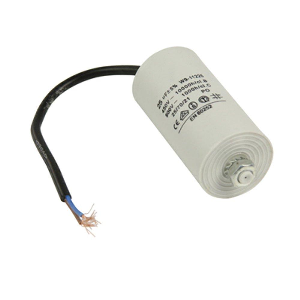Anlaufkondensator Motorkondensator mit Kabel 25uF 25/µF