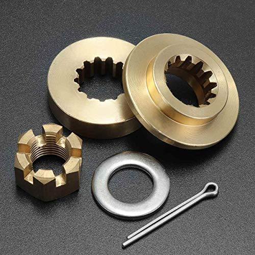 Lindsie-Box - Boat Marine Propeller Hardware Kits Brass Thrust Washer Spacer Nut Cotton Pin 13 Spline Tooth For Yamaha 40-60HP Accessories