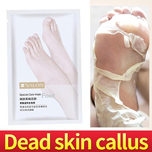 UMFun 1 Pair Remove Dead Skin Foot Skin Smooth Exfoliating Feet Mask Foot Care Foot Mask