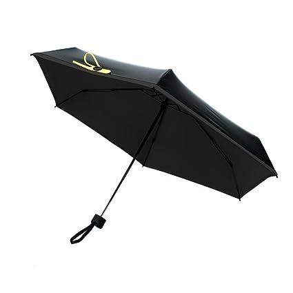 DAHAI FU 1 pieza de calidad mini paraguas de bolsillo Mujeres Sunny and Rainy Mini paraguas