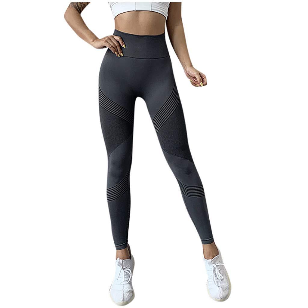 EUYOO Leggings Donna Fitness Eleganti Push Up Allenamento Opaco Vita Alta Yoga Palestra Leggins Sportivi Pantaloni Ragazza Pantalone Tuta Abbigliamento Fitness Donna