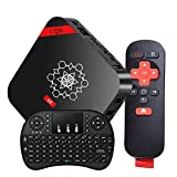 Android 6.0 TV Box, Smart TV Box Amlogic S905X 64 Bits Quad Core CPU and True 4K Playing [With Wireless Keyboard Touchpad]