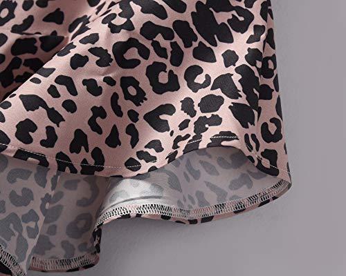 Lavany  Women's Ruffles Skirts Sexy Leopard Print Zipper Knee Length Skirt for Girl Brown by Lavany  (Image #6)
