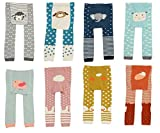#9: CHUNG Baby Toddler Boys Girls Cotton Footless Ankle Length Tights Soft Stretchy 6M-4Y
