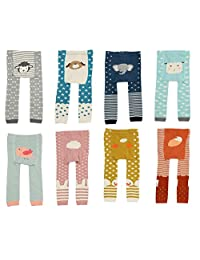 CHUNG Baby Toddler Boys Girls Cotton Footless Ankle Length Tights Soft Stretchy 6M-4Y