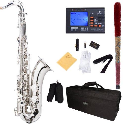 Saxofon tenor Nickel con funda y accesorios Mendini (xmp)