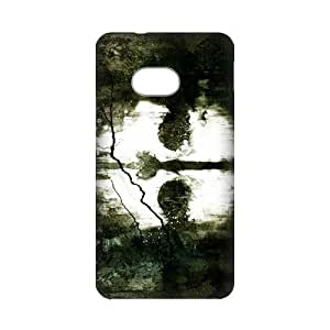 DIY Case Cute Ghost Hard Plastic Back Case Cover for Personalized Case for HTC One M7 Case-Perfect as Christmas gift(4)