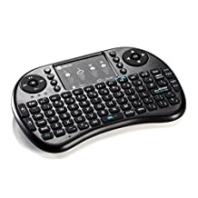 iClever IC-RF02 Mini 2.4GHz Wireless Entertainment QWERTY Keyboard with Multi-Touch Mouse Touchpad for PC, Pad, Andriod TV Box, Google TV Box, Xbox360, PS3 & HTPC/IPTV (Not for Samsung Smart TV)