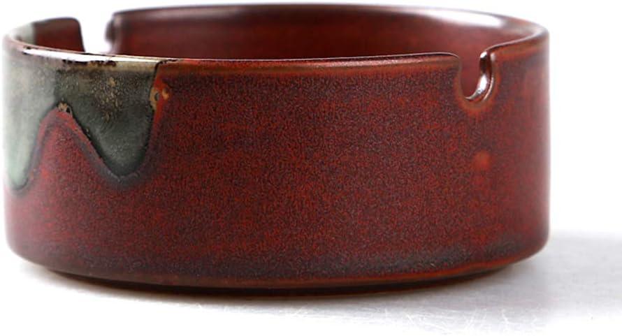 YOYT Cenicero de cerámica Ceniceros Redondos creativos Regalos Retro y decoración de la Oficina en casa