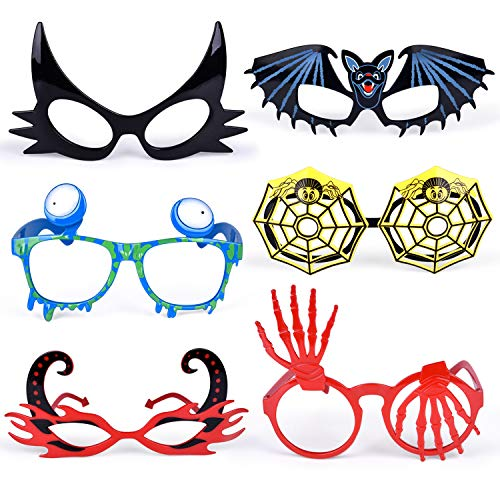 6PCs Halloween Glasses for Kids Halloween Party Favors, Cute Toy Glasses for Costume Party Supplies, Prizes and Gifts for Boys and Girls