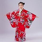 SSJ Kimono Robe [ Flower Design Kids ] Japanese