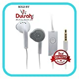 Duisah Samsung Galaxy Grand 2 YS Handsfree Universal Earphone with 3.5 mm Jack and Mic- White
