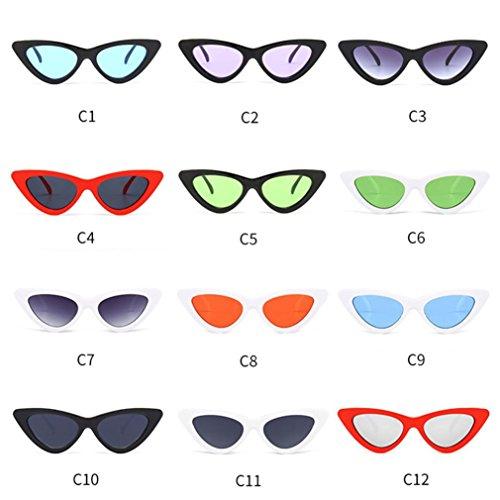 OverDose Chat Intégré Yeux Mode De Lunettes Soleil I Femme Pointues En Petites De UV Sunglasses UR8Hxq