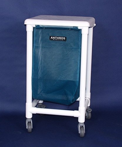Anthros Medical H1410-3 Hamper, 24 Gal, 1 Bin, Lid, 3 in....