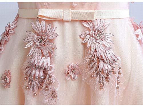 A Mano E V Yt er Ricamata Ricamato Abito Scollo Perline Da Perline Con Rosa Seta Fiore Sposa Xxl In 8qAwZzrq