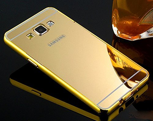 san francisco fe67d ccd20 AE Luxury Metal Bumper + Acrylic Mirror Back Cover: Amazon.in ...