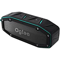 OGLEA Portable Wireless Bluetooth 4.1 Speaker with AUX, Outdoor IPX 6 Waterproof 10W 45mm Dual-Drivers, 18-Hour Playtime