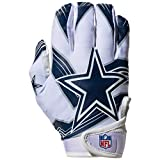Franklin Sports NFL Dallas Cowboys Youth Receiver Gloves,White,Medium