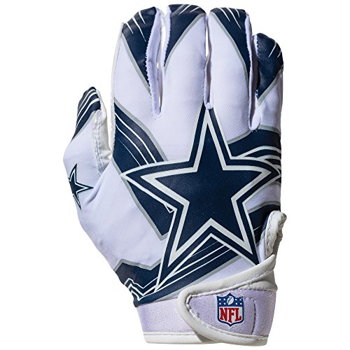- Franklin Sports NFL Dallas Cowboys Youth Receiver Gloves,White,Medium