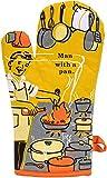 BlueQ Oven Mitt: Man With A Pan