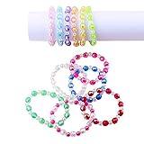 Plastic Iridescent Kids Bead Bracelet Kits
