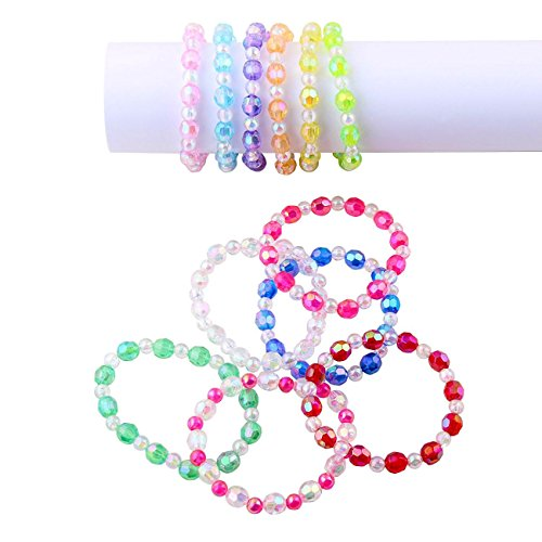 Assorted Plastic Iridescent Bracelets 12pcs product image
