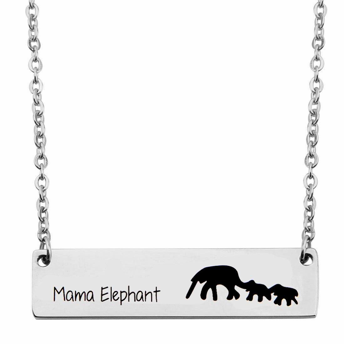 Amazon.com: gzrlyf collar de mamá elefante Mamá elefante ...