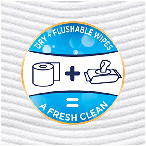 Cottonelle FreshCare Flushable Wipes for Adults, Unscented Wet Wipes, Alcohol Free, 336 Wet Wipes per Pack (Eight 42-Count Resealable Soft Packs)