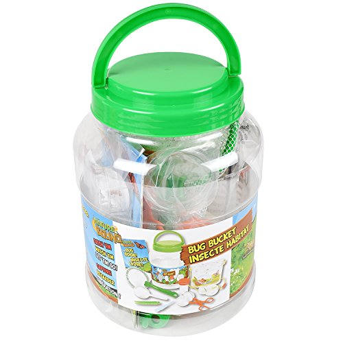 Nature Bound NB535 Bug Catcher with Habitat Bucket and 7 Piece Nature Exploration Set, Green (Pack of 14) by Nature Bound (Image #1)