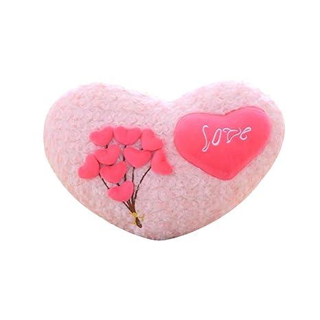 Almohada con forma de corazón y 9 corazones para el día de ...