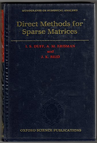 Direct Methods for Sparse Matrices (Monographs on Numerical Analysis)
