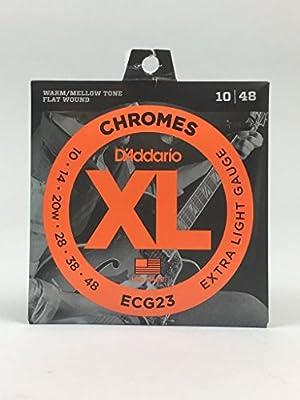 D'Addario ECG24-7 Chromes Flat Wound Guitar Strings by D'Addario