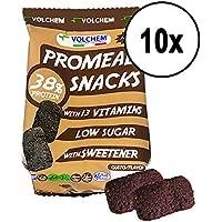 VOLCHEM PROMEAL SNACKS CACAO 38% proteine Box 10 Sacchetti sa 75g