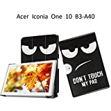 Acer Iconia One 10 B3-A40 Case,[Magnetic Closure] Soft Slim Back Cover 3-Folding Case for Acer Iconia One 10 B3-A40 Folding Case with Stand Features,Black eyes