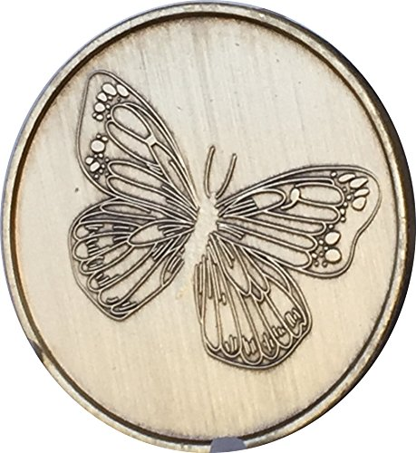 Bulk Lot of 50 Butterfly with Serenity Prayer Recovery AA Bronze Medallion Chip Set -