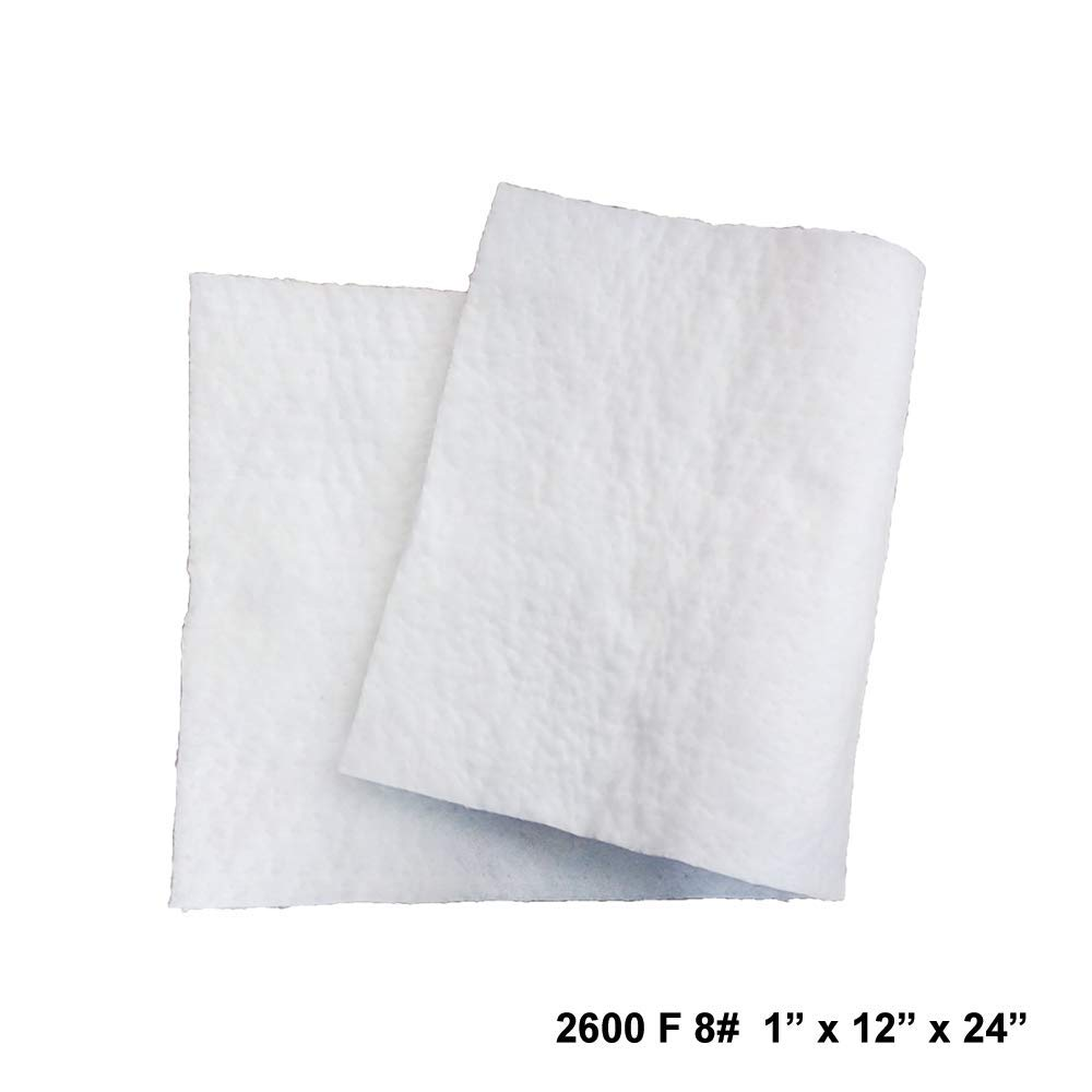 Simond Store Ceramic Fiber Blanket 8# Density, 2600F (1'' x 12''x 24'') for Thermal Insulation of Stoves, Fireplaces, Pizza Ovens, Kilns, Forges, Furnaces