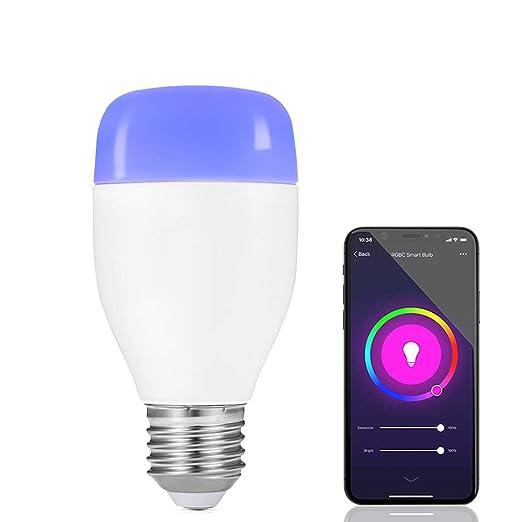 Bombillas Wi-Fi, Hedynshine Bombilla WiFi Inteligente E27-7 W, Cambio Multicolor
