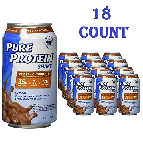 Pure Protein Ready to Drink Shakes, High Protein Frosty Chocolate, 11oz, 18 Count (18 Count total)