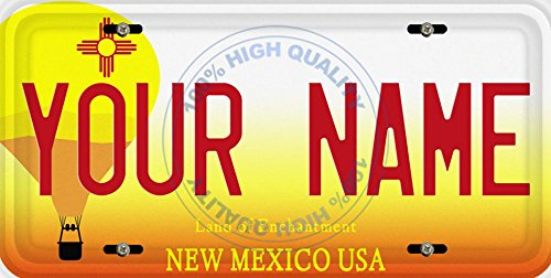 BleuReign(TM) Personalized Custom Name New Mexico State Car Vehicle License Plate Auto Tag (ALL STATES AVAILABLE)