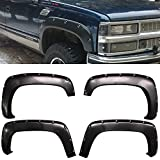 parts for 90 chevy silverado - Fender Fits 1988-1998 Chevy C1500 K1500 | Pocket Rivet Style Fender Flares 4PC - PPby IKON MOTORSPORTS |  1989 1990 1991 1992 1993 1994 1995 1996 1997