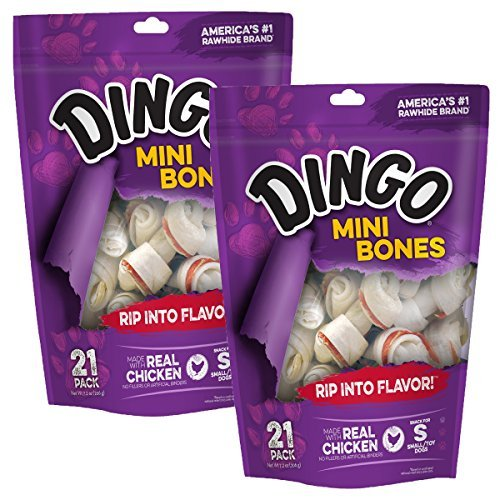 Cheap Dingo Rawhide Mini Bones, 42 Count